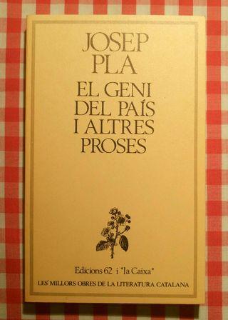 Josep Pla. Geni País i altres Proses. 1981