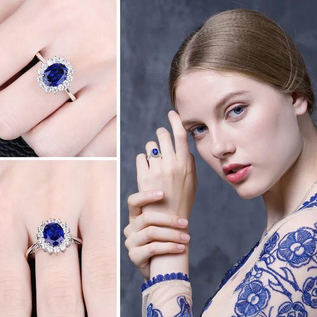 Princess Diana Created Blue Sapphire Ring