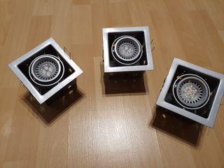 3 focos de techo LED