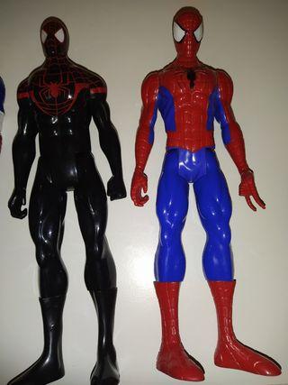 Spiderman negro y normal