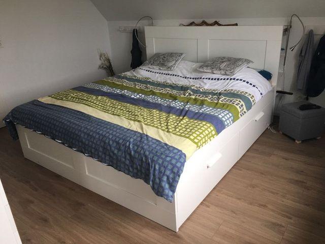 Cama cabecero colchón + 4 cajones