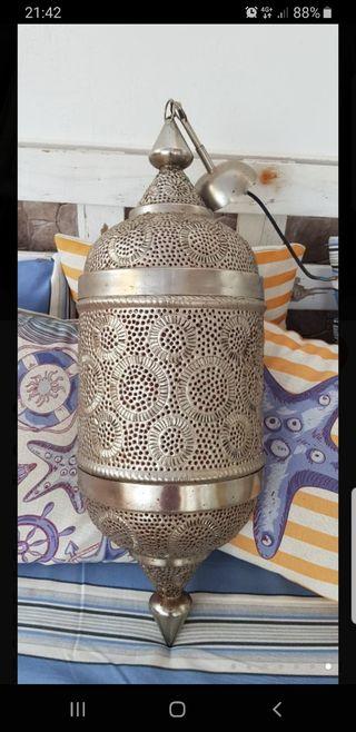 Lámparas árabes plateadas