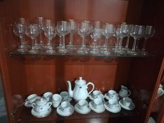 juego de cafe y copas