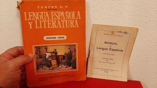 ANTIGUO LIBRO DE TEXTO O ESCUELA LENGUA ESPAÑOLA Y