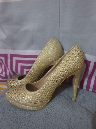 Zapatos de fiesta dorados 38