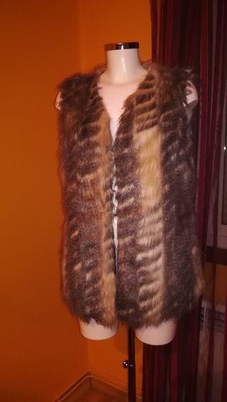 chaleco de pelo talla 42