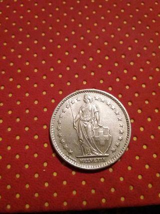 monedas 5 Frank de Suiza .2 de 1968 . 1970.1974