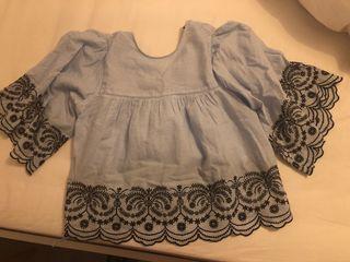 Blusa algodón Zara
