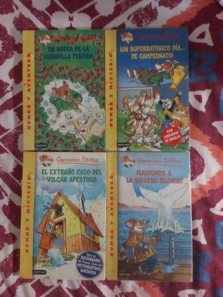 4 libros de Gerónimo Stilton.
