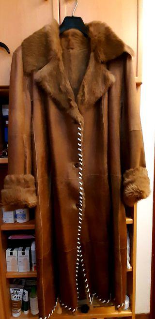 Abrigo piel y conejo