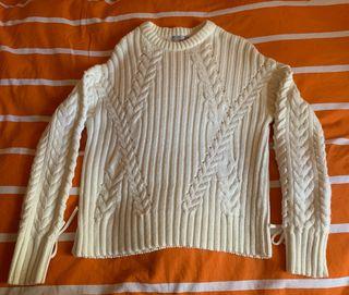 Jersey de ochos blanco roto