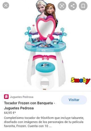 Tocador Frozen con banqueta