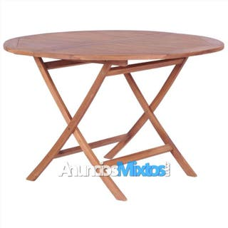 Mesa plegable de jardín madera teca maciza 120x75