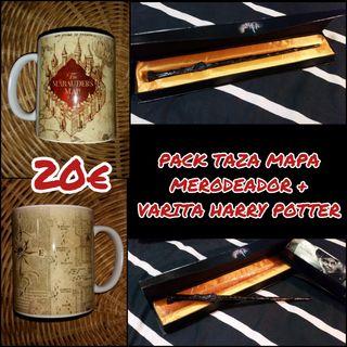 Pack taza mapa + varita Harry Potter
