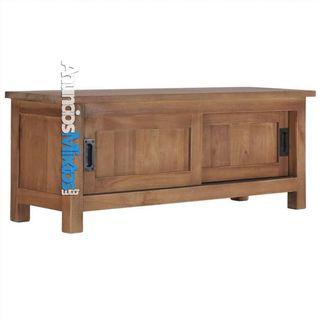 Mueble para TV de madera de teca maciza 90x30x35 c