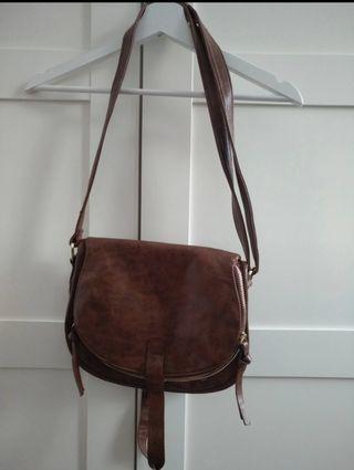 Bolso marrón de cuero Saxoline