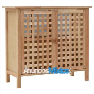 Mueble de lavabo madera maciza de nogal 66x29x61 c