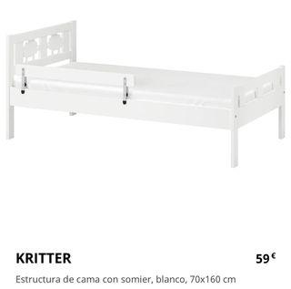 Cama infantil con colchón IKEA KRITTER