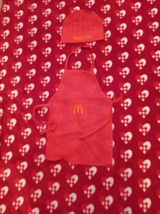 Disfraz cocinero Mac donals