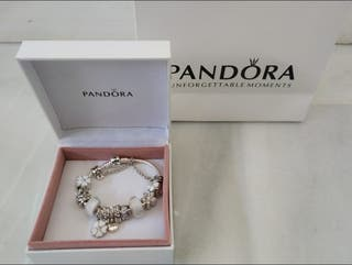 Pulsera Pandora flor blanca