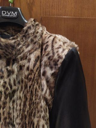 abrigo piel vintage