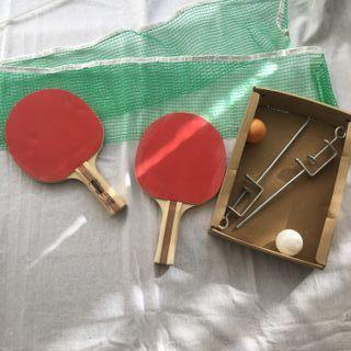 Palas Ping Pong de madera con red de Ikea raqueta