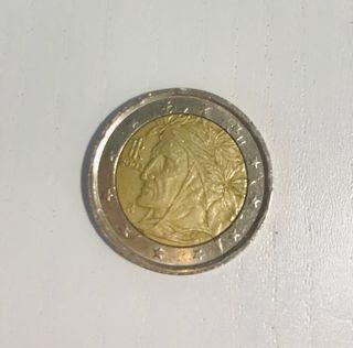 Moneda 2 euros Dante
