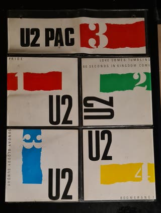 U2 PAC 4X7 SINGLES IRLANDA