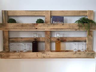 botellero estanteria madera palet reciclada