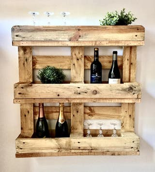 botellero jardin horizontal madera palet reciclada