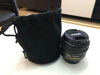 Objetivo Nikon 50mm f/1,8