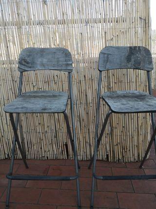 sillas altas a pintar