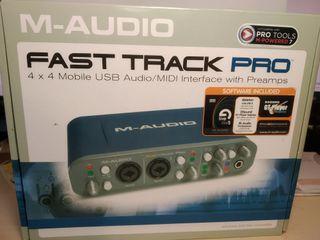 tarjeta sonido USB , fast track pro