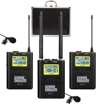 Pixel WM-10 UHF Micrófono Lavalier Inalámbrico Sis