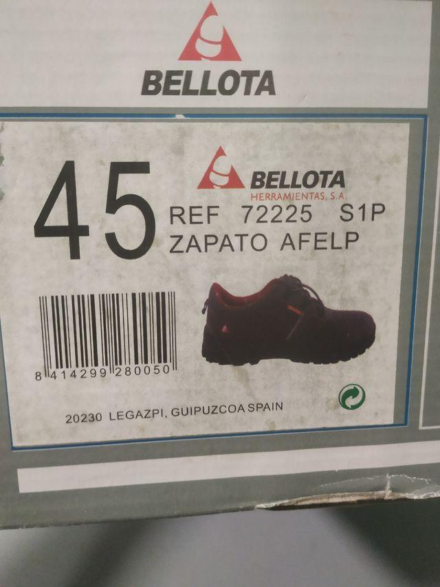 Calzado seguridad bellota n°45 sin usar