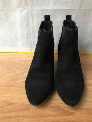 Botines piel, botines negros, botines mujer,