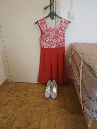 Vendo vestido y zapatos nuevos