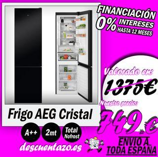 FRIGORÍFICO AEG 2MT CRISTAL NEGRO