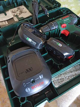 baterías y cargador taladro Bosch