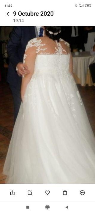 Vestido novia talla grande