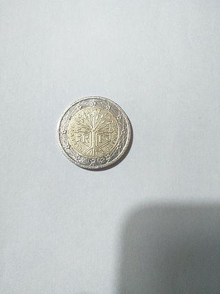 Moneda 2 euros Francia 2002