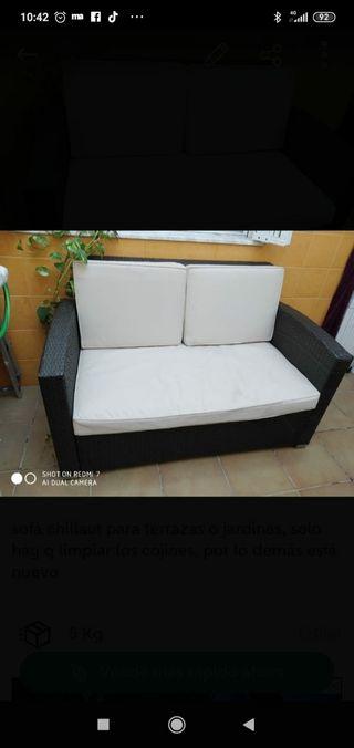 sofa mimbre