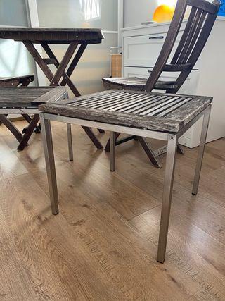 Vendo mesas + 2 sillas exterior