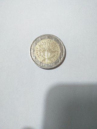 Moneda 2 euros Francia 2001