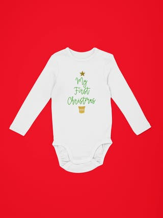 CHRISTMAS BABY VEST / GROWS / BODYSUITS