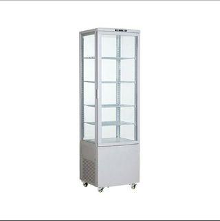armario expositor refrigerador 4 caras de cristal