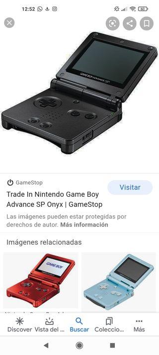Nintendo gameboy advance SP una azul y una roja