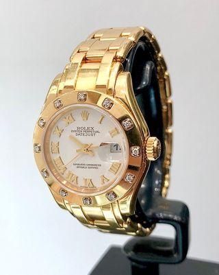 Reloj Rolex Datejust Pearlmaster. Dama. FULL SET