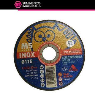 Pack 25 uds. Disco de corte M5 115/125x1mm Mussol
