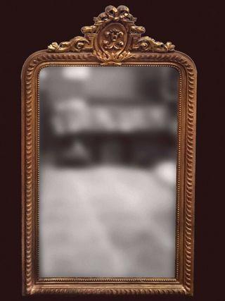 Espectacular espejo de madera isabelino 160x93